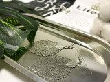 주문 최신 훅을%s 가진 판매 형식 보석 잎에 의하여 도금되는 은 귀걸이