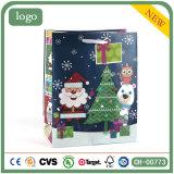 クリスマスの青い老人の木のギフトの紙袋、紙袋