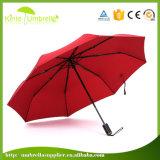 Paraguas al aire libre publicitario negro abierto automático del regalo para la promoción