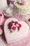 2018 Bakeware алюминиевых глубокую сердце форма для выпечки из анодированного алюминия серебристого цвета