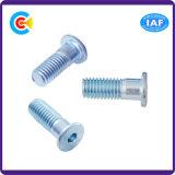 DIN/ANSI/BS/JIS Carbon-Steel/Stainless-Steel hebilla de trenzado de cono de cabeza plana hexagonal tornillo tornillo hexagonal Half-Tooth