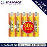 Mercure 1.5volt primaire libre pile alcaline à sec avec ce/ISO 24pcs/Pack de 5 ans Durée de vie (LR6/AM-3/AA)