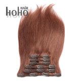 高品質のまっすぐな波毛の拡張の18インチのブラウンクリップ