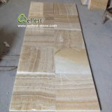Wall Floor Covering Cladding Siding Paving를 위한 J116 Yellow Beige Rosin Onyx Tile