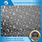 202 h/Cr chapa de acero inoxidable en relieve o en el aguafuerte