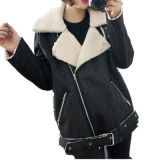 여자를 위한 까만 아래로 겨울 재킷 안쪽에 고품질 옷