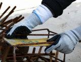 10g из пеноматериала Cut-Resistant Hppe Латексные перчатки безопасности
