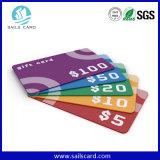 Cr80オーバーレイによって前刷りされるプラスチックギフトのカード