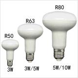 """ R "" 모양 CRI>80 3W Plastic+Aluminum LED 전구"