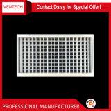 Griglia di aria di alluminio del soffitto di Defelction del condizionatore d'aria doppia