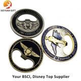 金属のクラフトの工場販売法のオープナ機能の安い挑戦硬貨
