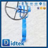 Válvula de mariposa excéntrica del motor del triple cero de la salida de Didtek