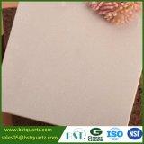 Dessus rose-clair personnalisé de vanité de pierre de quartz pour la salle de bains