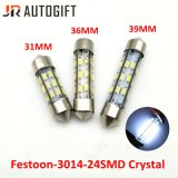 Bulbos cristalinos del adorno estupendo del blanco 12V 3014 bulbos autos de la lectura 24SMD