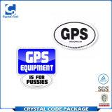 Escritura de la etiqueta de encargo de la etiqueta engomada del GPS del pegamento de China