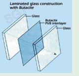 El vidrio laminado laminado bronceado gris del vidrio PVB para el suelo y adorna el edificio