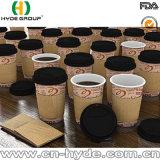 La aduana imprimió la taza de papel de 12 onzas para la bebida caliente con la tapa y la funda