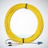 Cavo di zona ottico della fibra/cavo della zona con Sc, LC, st, connettori di FC