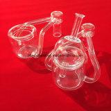 Los cuellos de doble transparente cristal de Cuarzo Banger Nail Bongs de cristal de cuarzo