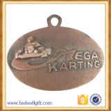 Medalhões de acabamento esportivo de prata de esmalte em forma redonda