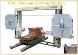 Le fil en pierre de diamant de commande numérique par ordinateur a vu le bloc de granit/marbre de découpage de machine