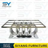 贅沢な銀製の絵画ステンレス鋼のダイニングテーブル