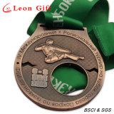 Qualité 3D personnalisé Or Antique Médaille Sporst Run réel de métal