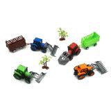 Caçoa o brinquedo de mini tratores de exploração agrícola plásticos puxam o carro