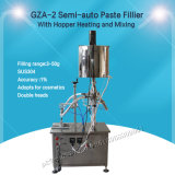 Semi-Auto Pegar máquina de llenado con la tolva para la salsa de chili (GZA-2)