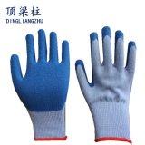 De Katoenen van de goede Kwaliteit 21g Handschoen van de Veiligheid met Met een laag bedekte het Latex van de Kreuk
