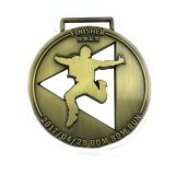 Großhandelsmetallmessing-Medaillen des qualitäts-Zoll-3D laufende