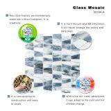 居間Backsplashのためのハイエンド灰色のステンドグラスのモザイク・タイル