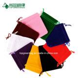Kundenspezifischer reiner Farben-Samt-Gewebedrawstring-Beutel