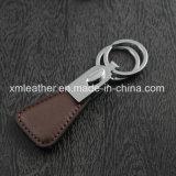 형식 2개의 반지를 가진 가죽 Handmde Keychain 홀더 키 측정기