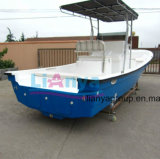 Liya 25feetの船外ガラス繊維のボート深いVの外皮の漁船
