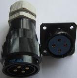 Lypシリーズバイオネットカップリングの円コネクター