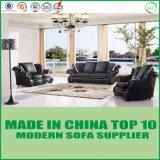 Modernes Wohnzimmer-französisches Art-Leder-modulares Sofa