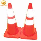 Cono standard americano di traffico del PVC di sicurezza stradale con il rivestimento riflettente