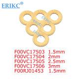 Erikc Bosch F00vc17503 (F 00V C17 503) 일반적인 가로장 인젝터 구리 반지 (1.5mm) 인젝터 구리 세탁기 F00V C17 503 Injeciton 열 차폐