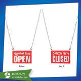 Muestra abierto-cerrado colgante de la puerta del departamento de acrílico, placa de acrílico de la puerta