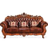 Sofà di cuoio classico per la mobilia del salone