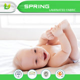Organische Baumwollwasserdichte befestigte Baby-Krippe-Auflage