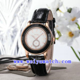 Relojes de lujo de cuero vendedores calientes del reloj para las mujeres (WY-023E)