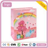 Cumpleaños Pink Elephant Actualidad Bolsa de papel de regalo juguetes ropa