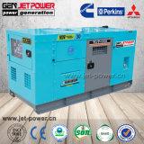 Tipo silenzioso della prova insonorizzata del tempo 3 generatore diesel di potere 125kVA di fase 100kw