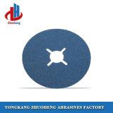 Discos da fibra dos abrasivos da limpeza da resina com três furos internos dos tipos