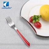 Aço inoxidável portátil de alta qualidade dos frutos da Forquilha da faca talheres definir com pega de plástico