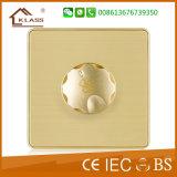 Гнездо Tel 1gang металла 86*86 алюминиевое золотистое
