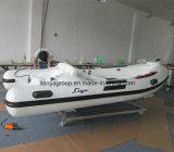 Liya 3,8 m de barco inflável costela de luxo em fibra de vidro