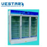 Double porte en verre Showcase avec réfrigérant R134A